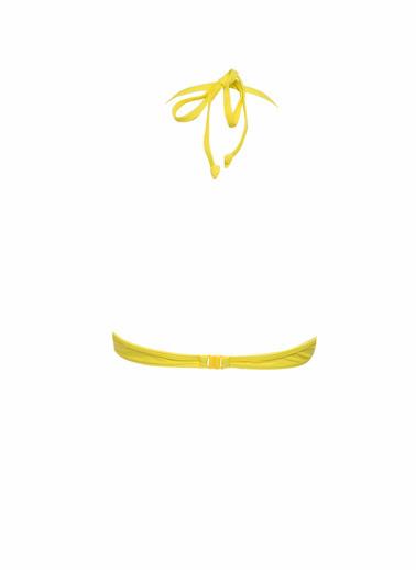 DeFacto Büzgü Detaylı Üçgen Bikini Üstü Sarı